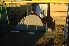 Camping at the school at Conococha