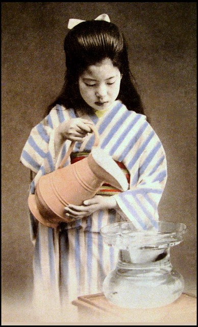 YOUNG GIRL WITH A PITCHER AND BOWL | Flickr - Photo Sharing!