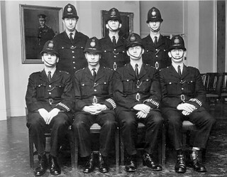 The Plymouth Seven (Metropolitan Police, Westminster, London, SW1. UK) Late 1950's Early 60's. All Seven Police Constables Were Attached To Cannon Row Police Station (Alpha Delta) At The Same Time.