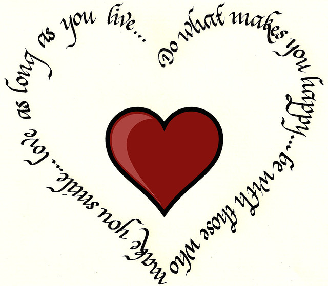Calligraphy heart gift avenefica flickr photo sharing