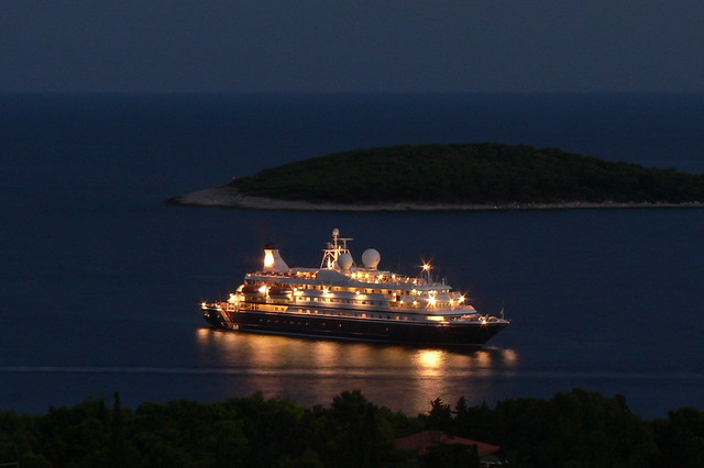 Cruise ship at night by flickr user ajy