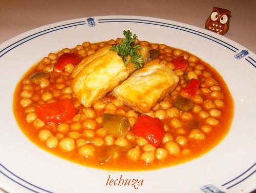 La cocina de lechuza recetas de cocina con fotos paso a - Bacalao con garbanzos y patatas ...