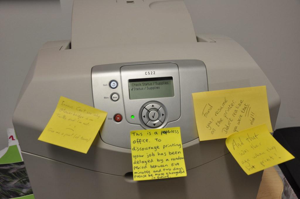 our exuberant printer