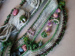 Secret Garden ... Freeform Crochet Necklace