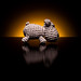 Knitted Hippo in Sunrise (Amigurumi)