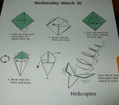 Paper Helicopter Instructions images