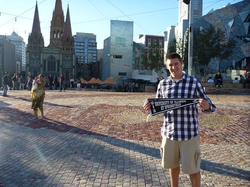 Brad ('05) at Federation Square, Melbourne, Australia