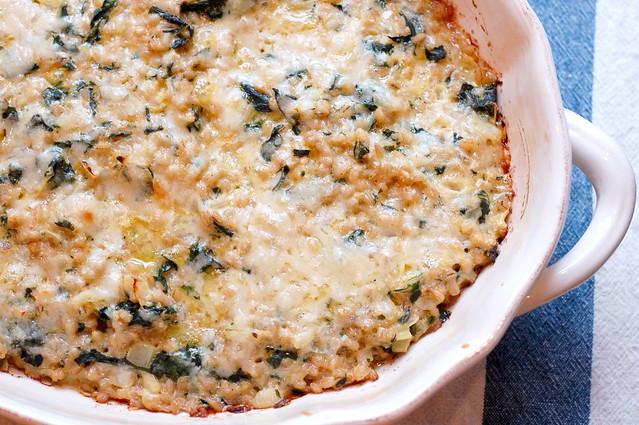 Swiss Chard & Barley Gratin by Eve Fox, Garden of Eating blog, copyright 2011