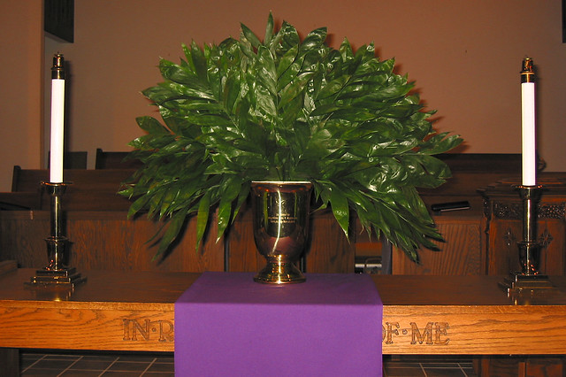 Palm sunday altar decoration flickr photo sharing for Altar decoration ideas