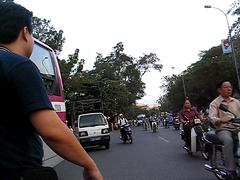 Crossing a Hanoi Street