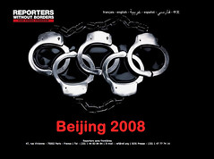 Tibet Protest Poster related to 2008 Beijing Olympics