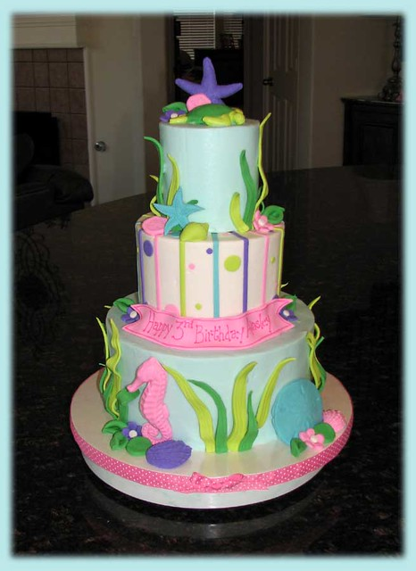 Ainsley S Under The Sea Cake For Letters I Made This