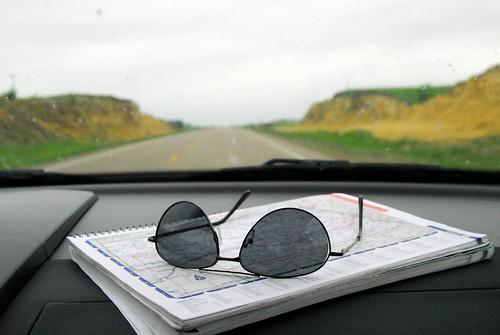 Map/sunglasses