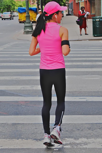 Jogger in pink and black - 無料写真検索fotoq