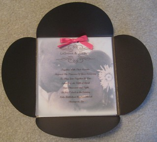 Inside of Petal Invitation