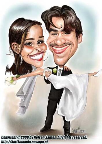 Small garden cartoon - Wedding Invitation Caricature Flickr Photo Sharing
