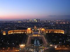 Paris skyline and Palais de Chaillot