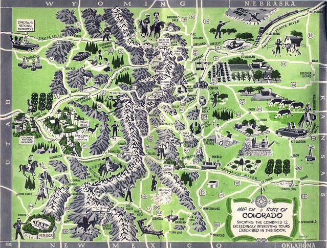 Map Colorado Tourism Brochure C 1956  Flickr  Photo