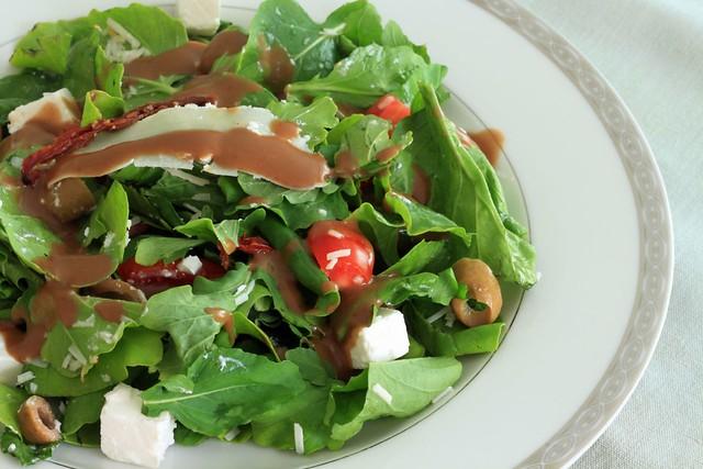 "Rocca salad ... part of ""Healthy and Tasty"" menu"