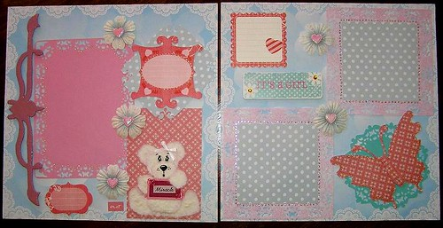 Scrapbook page - tear bear