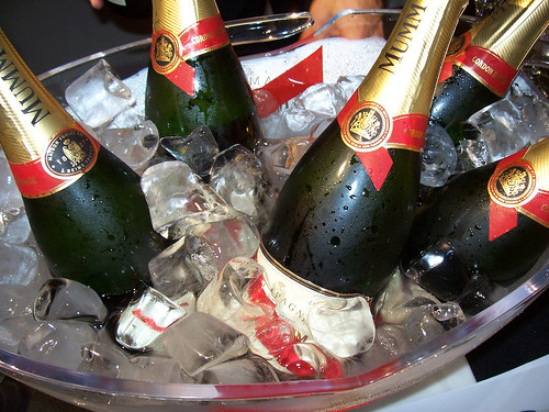 Parties for Neww Year's Eve 2013 in Vegas - Champagne chilling.