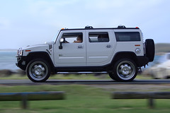 hummer h1(0.0), hummer h3t(0.0), automobile(1.0), automotive exterior(1.0), sport utility vehicle(1.0), vehicle(1.0), hummer h3(1.0), hummer h2(1.0), off-road vehicle(1.0), bumper(1.0), land vehicle(1.0), luxury vehicle(1.0),