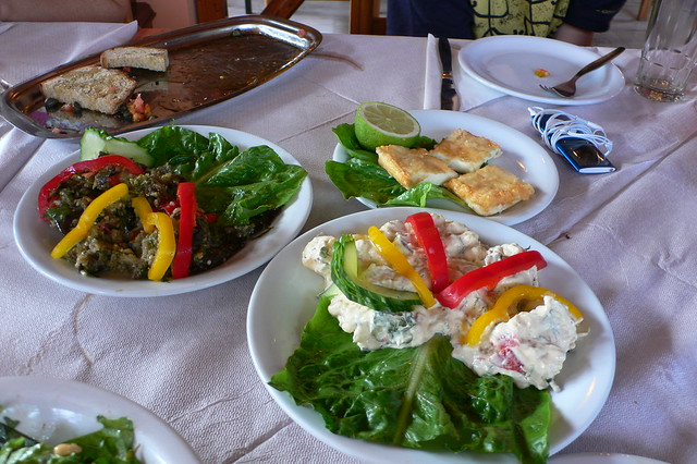 Mezes in a Greek Taverna