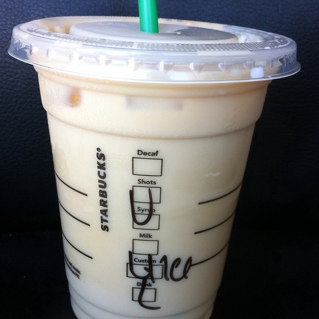 Picture Of Starbucks Drink With Xanax Bar On Table