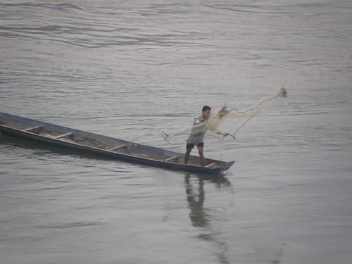 Mekong Fisherman in Luang Prabang