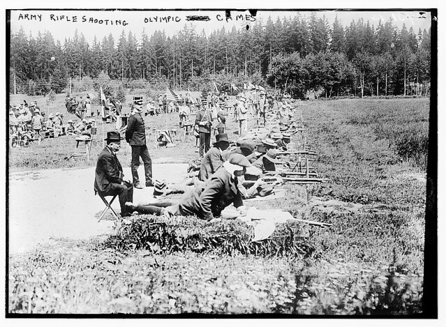 Army rifle shooting, Olympic games  (LOC)