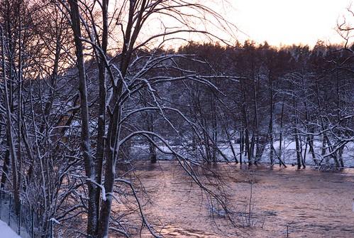 sunset snow water sweden snö vatten solnedgång naturesfinest västragötaland västergötland säveån floda lifebeautiful