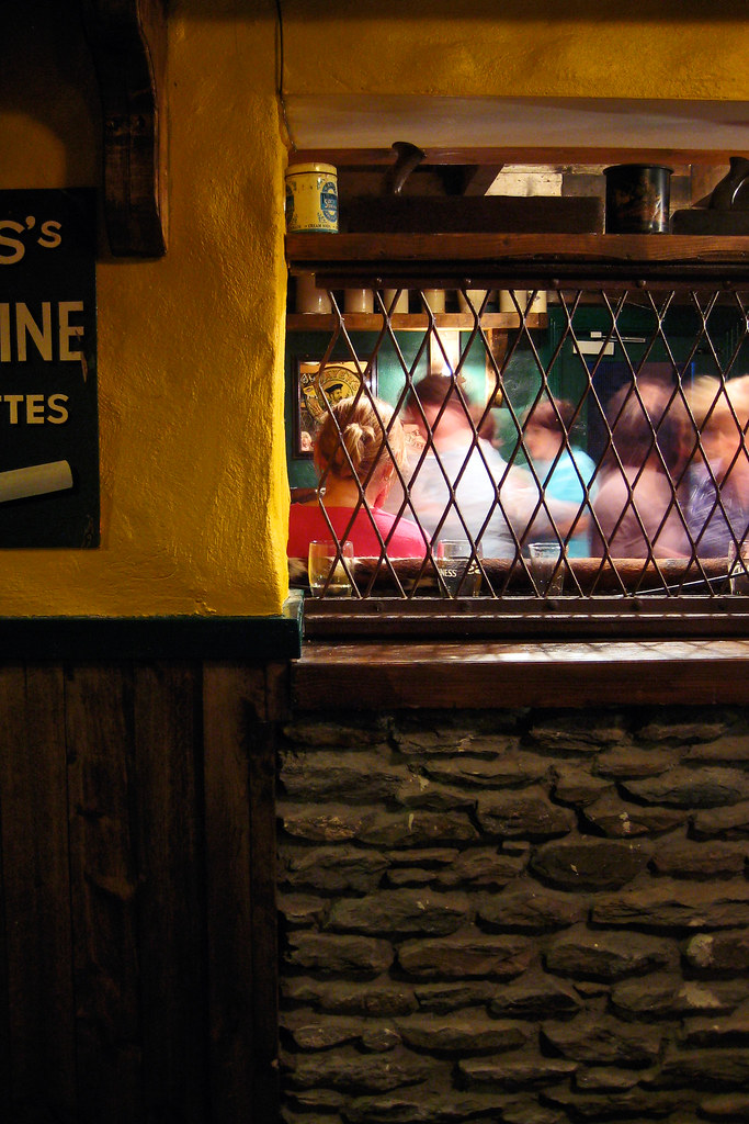 Dance lessons in an Irish Pub in Dingle Town.
