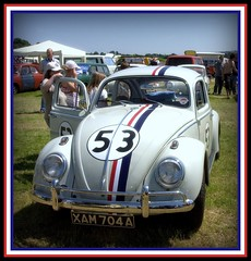 old classic cars and caravans