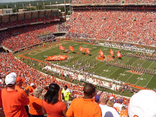 clemson memorial stadium amazing college stadiums