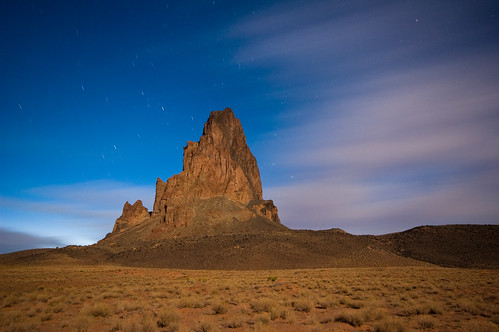 longexposure arizona southwest night clouds stars explore navajo elcapitan coloradoplateau agathla nikond40 klsouthwest2008