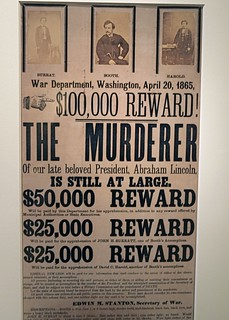 Reward poster for John Wilkes Booth, Smithsonian American Art Museum