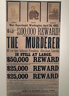 Reward poster for John Wilkes Booth, Smithsonian American Art Museum