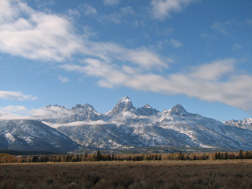 The Teton Range in Grand Teton NP, Wyoming