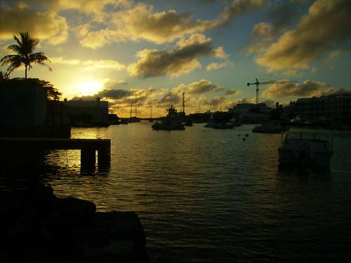 ocean sunset sea sky clouds backyard bermuda fiatlux