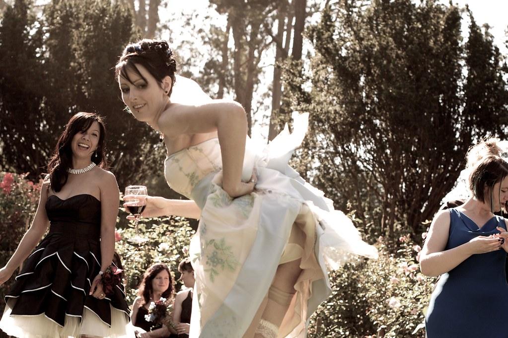 Brides flashing pics