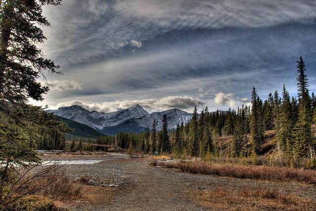 Landscape in Bragg Creek Provincial Park, Alberta, Canada (HDR)