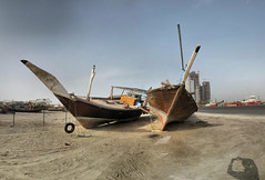 Vieux dhows - Port Zayed - 24-04-2010 - 16h36