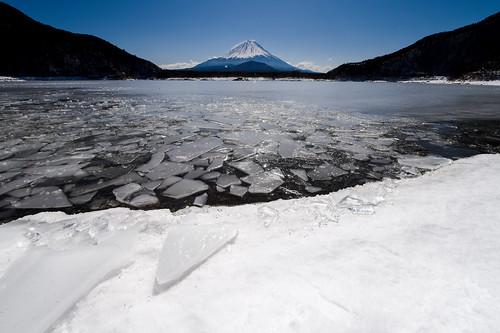 japan march spring fuji crazyshin yamanashi 2014 精進湖 氷結 lakeshoji afsnikkor2470mmf28ged nikond4s 20140308ds10470 子抱き富士
