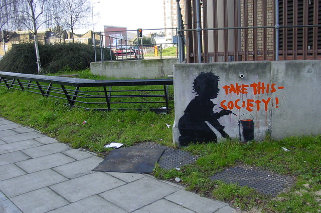"Banksy ""Take This Society"""