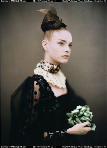 like a painting - by paolo roversi - for vogue italia