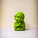 tiny green buddha.