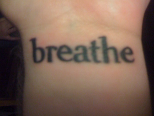 new wrist tattoo the font is Gilgamesh Book the same font that Pema