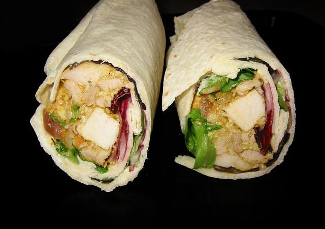 Coronation Chicken Salad Wrap | Flickr - Photo Sharing!