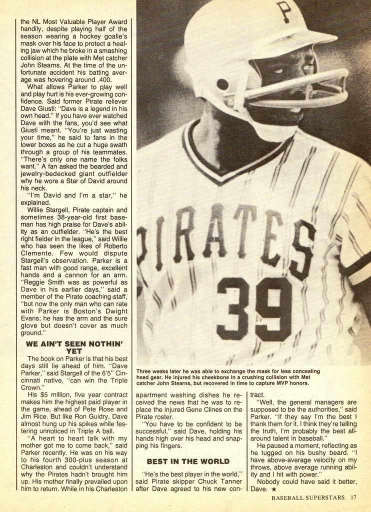 8ea4e5d7d (For more on Parker's masks, look here. For more on other players who've  worn mask attachments on their batting helmets, look here.)