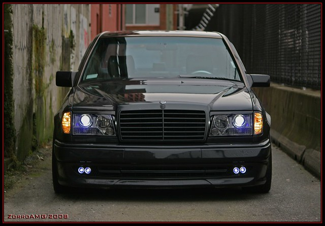 W124 amg zorro front view flickr photo sharing for Mercedes benz 190e headlights
